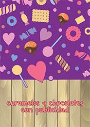 Caramelos y chocolates con publicidad