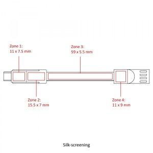 BND832 Cable cargador universal Chili - Áreas de marcaje