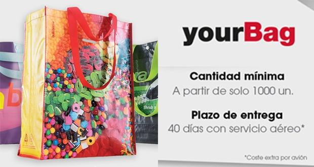 Obtén tu bolsa yourBag a partir de sólo 1000 unidades