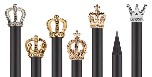 lápices con corona - modelos