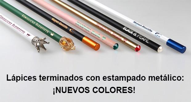 Lápices con estampado metálico: ¡nuevos colores!