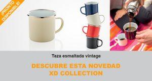 Novedad ecológica Taza esmaltada vintage