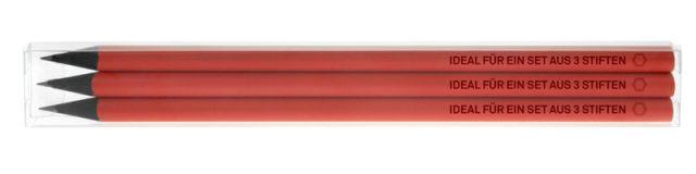 Ref. 8083 - estuche transparente para 3 lápices