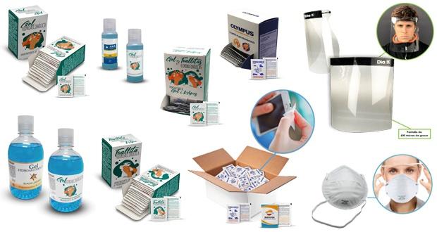 Productos de protección, desinfección e higienización personalizados