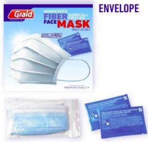 Sobre de protección con gel desinfectante