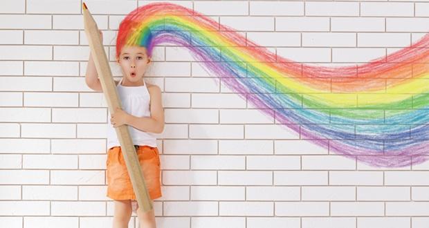 Lápices arcoiris