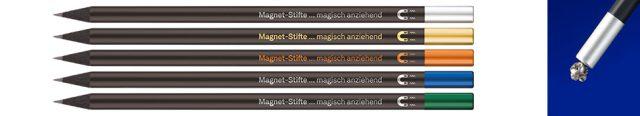 Lápices magnéticos con tapas de colores
