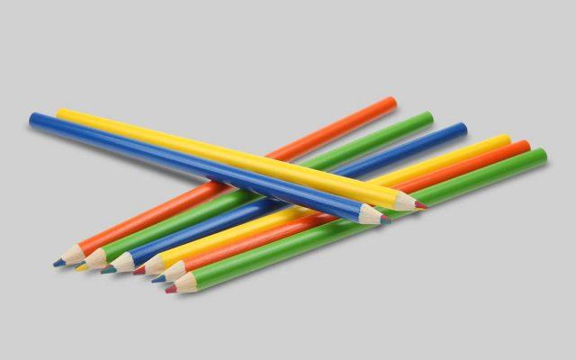 Lápices arcoiris lacados