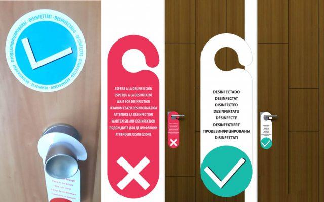 Identificador habitación desinfectada