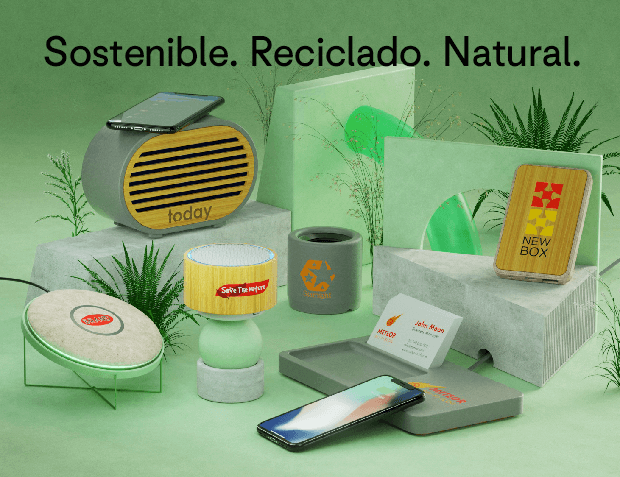 Sostenible. Reciclado. Natural.