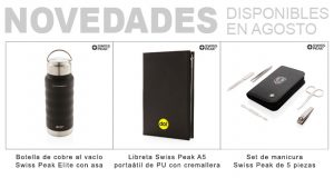 Novedades Swiss Peak disponibles en agosto