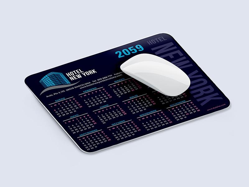 Calendario alfombrilla PVC