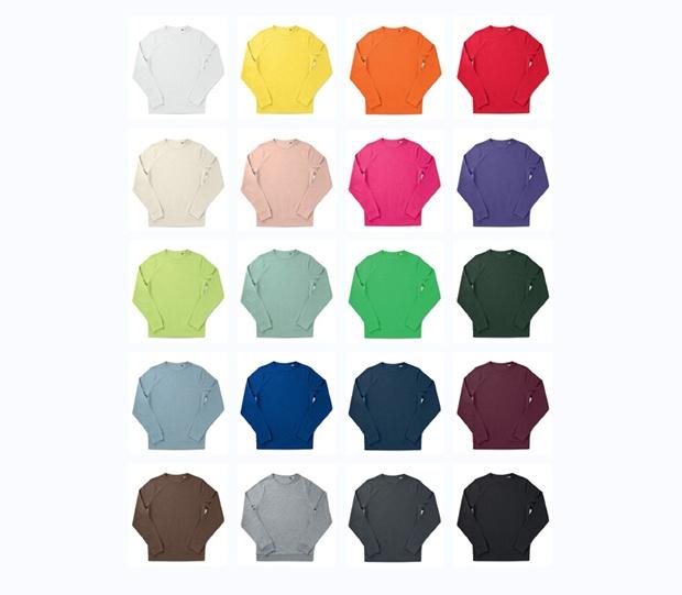 Colores sudaderas orgánicas B&C