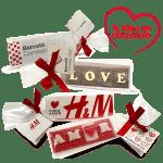 Bolsa con mensaje de pectina o chocolate