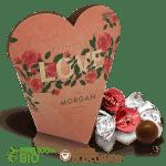 Caja de corazón con bombones