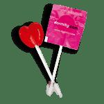 Piruleta corazón de caramelo