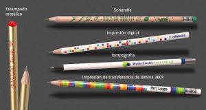 Técnicas de impresión en lápices