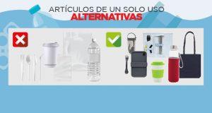 Alternativas reutilizables para los artículos de plástico de un solo uso