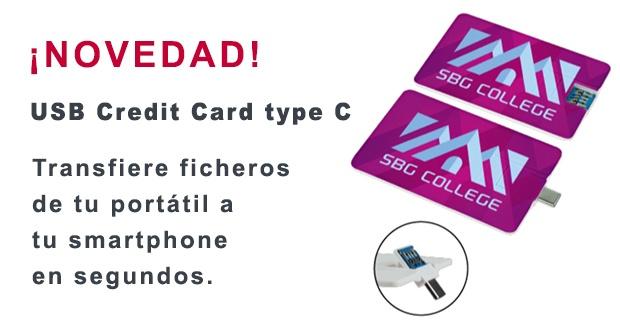 NOVEDAD - USB Credit Card type C